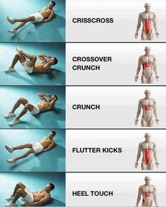 What moves work where . . . do all these moves for a great ab workout!