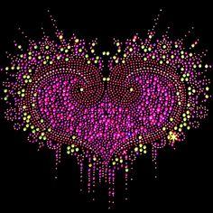 10x9  - Heart - heart, Material Transfer, Hearts & Love, Ladies Fashion