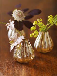 Eight Lustre Bud Vases