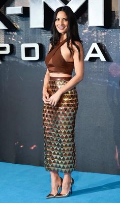 Olivia Munn wears Balmain Spring/Summer 2016 look to the London premiere of X-Men Apocalypse #BALMAINARMY