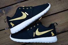 New Made To Order Custom Nike Roshe OVO Gold and by mnroshecustoms