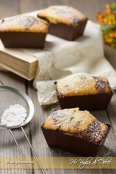 Mini plumcake allo yogurt bicolori soffici