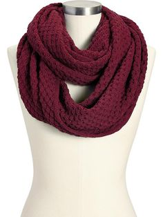 Sweater-Knit Infinity Scarves - I'm in love with this color this fall.  Love this scarf from Old Navy.  It's so soft.