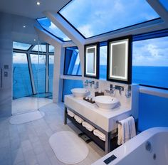 Celebrity Cruises all-new Celebrity Reflection suite's bathroom. More photos on our blog.     Photo courtesy of Celebrity Cruises.