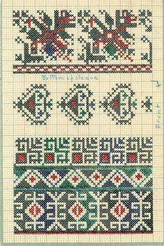 FolkCostume&Embroidery: Charted Embroidery designs from Vrlika, Dalmatia, Croatia