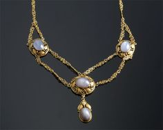 """Antique Gold and Star Sapphire Necklace  13.5K (15.5"""")  S=18.00cts app  $5,500"""
