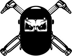 Welder Skull Welding Helmet Mask Car Truck Window Laptop Vinyl Decal Sticker #Oracal