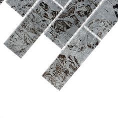 Solistone Folia Silver Maple 12 in. x 12 in. x 6.35 mm Glass Mesh-Mounted Mosaic Wall Tile (10 sq. ft. / case)-9058 - The Home Depot