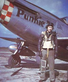 "Lt. Robert V Blizzard, Los Angeles CA, 504th Fighter Squadron. P-51D 44-15499 5Q-O ""Punkie II"" Littlefriends.co.uk"