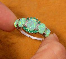 Emerald Jewelry, Emerald Gemstone, Opal Jewelry, Jewellery, Jewelry Rings, Jewelry Watches, Emerald Wedding Rings, Wedding Rings For Women, Opal Rings