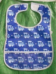 Fused plastic bibs