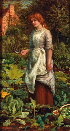 Arthur Hughes, pintor y diseñador Relacionado a la Hermandad The Gardener's Daughter , from Iryna