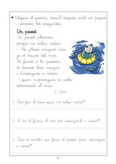comprensió lectora per cicle inicial - Cerca amb Google Catalan Language, Music Classroom, Conte, Valencia, Worksheets, Literacy, Teacher, Journal, Activities
