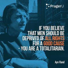 Ayn Rand defendendo o indivíduo