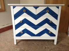 New chevron dresser from an old dresser