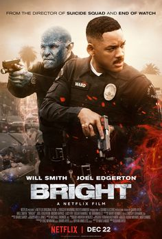 """""""Bright may have a blockbuster budget, but you're not missing out on much by seeing it in your living room."""" BRIGHT is on Netflix tomorrow. Read our review http://www.themoviewaffler.com/2017/12/new-release-review-vod-bright.html #Netflix #BrightMovie #Bright"""
