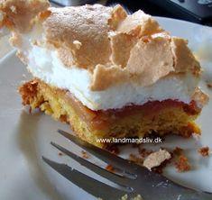 Danish Cake, Danish Dessert, Danish Food, No Bake Desserts, Delicious Desserts, Yummy Food, Cake Recipes, Dessert Recipes, Scandinavian Food
