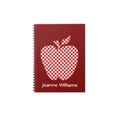 Teacher's Red Checked Apple Notebook  Click on photo to purchase. Check out all current coupon offers and save! http://www.zazzle.com/coupons?rf=238785193994622463&tc=pin