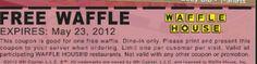 Waffle House Printable Coupon ~ Free Waffle