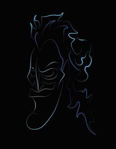 Hades by Vladimir Topalović Hades Disney, Disney Hercules, Arte Disney, Disney Fan Art, Disney Dream, Disney Fun, Maleficent Tattoo, Disney Lines, Disney Villains Art