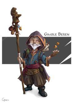m Gnome Rogue Arcane Trickster Leather Staff Dice Gimble Beren by RobertoGatto.deviantart.com on @DeviantArt