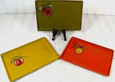 Groovy Bistro Lacquer Trays Collection  Matching by DivineOrders, $21.00