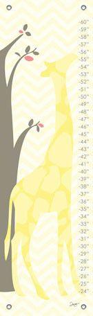 Modern Giraffe - Yellow Growth Charts