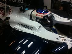 Valtteri Bottas in the cockpit before his installation lap (Barcelona, 20/02/2013)