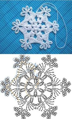 Crochet Patterns Christmas Crochet Snowflake Pattern 00 07 Wonderful DIY Crochet Snowflakes With Pattern Crochet Snowflake Pattern, Crochet Stars, Christmas Crochet Patterns, Holiday Crochet, Crochet Snowflakes, Crochet Flowers, Christmas Knitting, Crochet Diy, Crochet Home