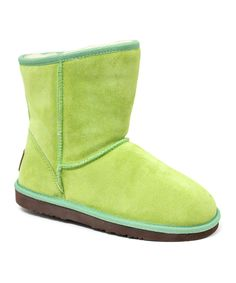 Look what I found on #zulily! Lime Sierra Suede Boots by  #zulilyfinds