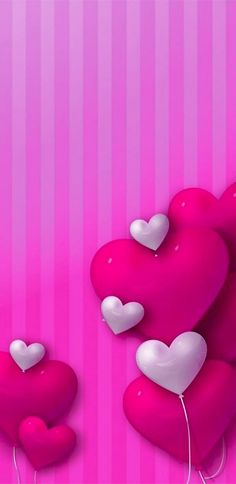 Wallpaper For Your Phone, Heart Wallpaper, Purple Wallpaper, Love Wallpaper, Phone Backgrounds, Wallpaper Backgrounds, Iphone Wallpapers, Pink Love, Heart Art