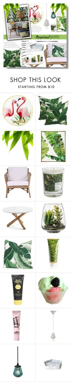"""""""Tropics"""" by luna-jancek ❤ liked on Polyvore featuring interior, interiors, interior design, home, home decor, interior decorating, Pier 1 Imports, Barclay Butera, Dot & Bo and Maison La Bougie"""