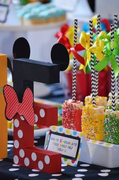 sweet simplicity bakery mickey mouse clubhouse dessert and candy buffet table display