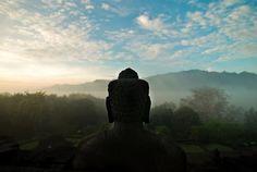 Awan diatas Candi Borobudur