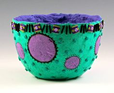 Angie Wiggins Mixed Media Paper Bowl