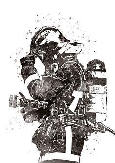 Firefighter Black or Blue Watercolor, French Firefighter Gift, Firefighter Art, Firefighter Illustration Shows Firefighter, Christmas Gift - Firefighter black or blue watercolor French Firefighter Pictures, Firefighter Gifts, Volunteer Firefighter, Firefighters, Thé Illustration, Illustrations, Fireman Tattoo, Firefighter Tattoos, Gothic Poster