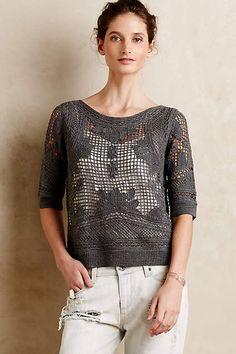 Dolce Merino Crochet Pullover - anthropologie.eu