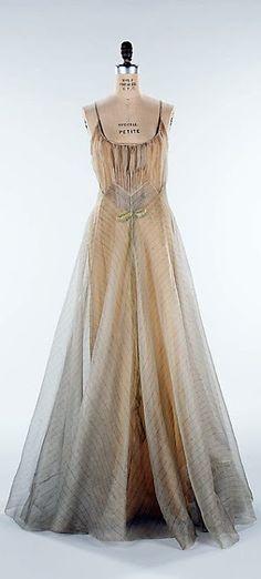 1938 'Women in Love' Silk Dress by Elizabeth Hawes (American, 1903-1971).