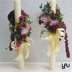 Lumanari cununie scurte trandafiri amaranthus veronica - LC24 Verona, Scented Candles, Glass Vase, Wedding Flowers, Concept, Table Decorations, Decorative Fireplace, Nasa, Monkey