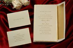 Invitationbox birchwood wonderfully gold ecru