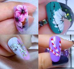 blumen video Nails Art The Best Nail Art Designs Compilation Nail Art Designs Videos, Nail Art Videos, Best Nail Art Designs, Floral Nail Art, White Nail Art, Nail Art Blog, Nail Art Hacks, One Stroke Nails, Nagellack Trends