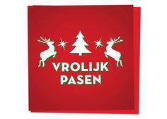 Vrolijk Pasen Kerstkaart - meer grappige kerstkaarten op www.kwokshop.nl  #kerst #kerstkaart