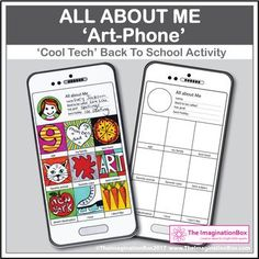 All About Me Back to School 'Art Phone' creative art & wri
