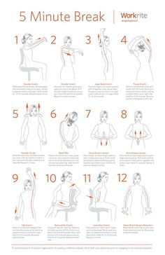 The 5 Minutes Exercises that you can't afford not to do. Ergonomic Exercises To Keep You Healthy & Fresh At Work: Here at Workrite Ergonomics we believe workplace is a top priority and are at the core of our business philosophy. Step Workout, Desk Workout, Workout At Work, Workout Board, Workout Belt, Workout Abs, Fitness Workouts, Easy Workouts, At Home Workouts