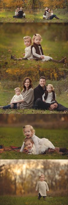 Beautiful late fall family portrait session.