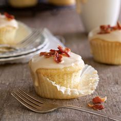 Maple, Bacon, and Bourbon Cupcakes Recipe - Taste of the South
