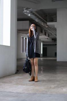 SHENTONISTA: Sweet Disposition. Xinhui, Interior Design. Cardigan from Esprit, Dress from Purpur, Bag from Santa Barbara Polo & Racquet Club, Shoes from Pull & Bear. #shentonista #theuniform #singapore #fashion #streetystyle #style #ootd #sgootd #ootdsg #wiwt #popular #people #male #female #womenswear #menswear #sgstyle #cbd #Esprit #Purpur #SantaBarbaraPoloRacquetClub #PullBear