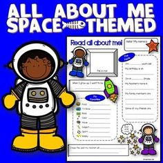 Space Theme : Space ThemeThis 'All About Me Sheet' is a space-themed get-to-know-me sheet that can be handy during the first week of a new school year. This sheet can be used over and over for many years to come. You and your students will surely enjoy! Back To School Activities, Classroom Activities, Classroom Ideas, Space Activities, School Ideas, Teaching Tools, Teacher Resources, Space Theme Classroom, Space Preschool