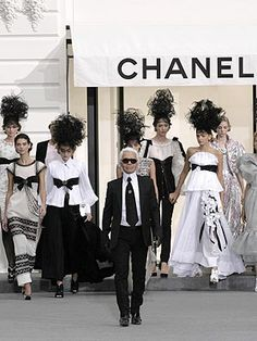 Karl Lagerfeld Works His Magic at Chanel -- With a Little Help From His Famous Friends | People.com