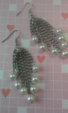 #madebybonnie2014 Check out this item in my Etsy shop https://www.etsy.com/listing/201756675/belcourt-dangles-silver-plated-earrings